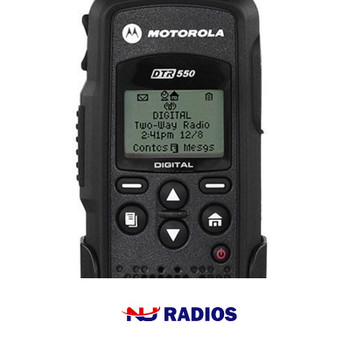 The Motorola DTR550 works on Frequency Hopping Spread Spectrum (FHSS) technology.  The radios are not just more reliable, they are free from interference and offer greater privacy than typical analog models.