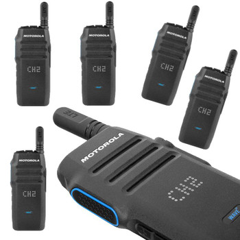 Get a Six Pack of Motorola TLK100 WAVE Two Way Radios. Keep employees connected and accountable with crisp, clear audio, location tracking and improve focus without a distracting screen to get in the way. Forget building out or maintaining a costly radio infrastructure. Get your team up and running quickly by deploying nationwide push-to-talk in less than 24 hours.