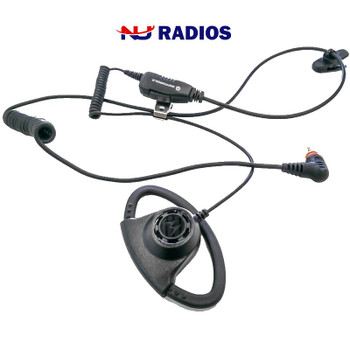 Adjustable D-Style Earpiece (PMLN7159). With a comfortable and adjustable fit for extended wear, this compact and durable accessory. Fits the TLK100 and SL300 series radios by Motorola.