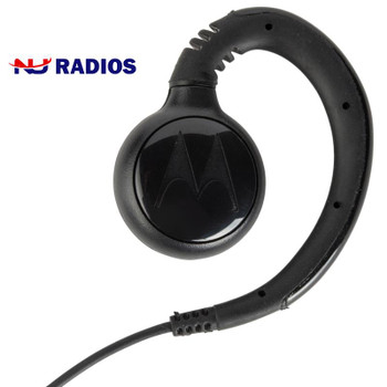 Motorola Part PMLN7189 C-Hook Swivel Style Earpiece with PTT Mic works with the TLK100 WAVE two way radio and the SL300 series.