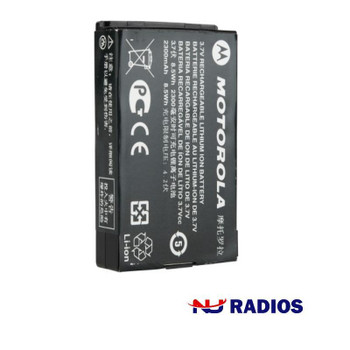 Motorola PMNN4468 - BT100 2300 mAh Li-Ion Battery -  Lithium ion batteries are one of the most popular types of battery in the world. Works with TLK100 WAVE and SL300 radios.