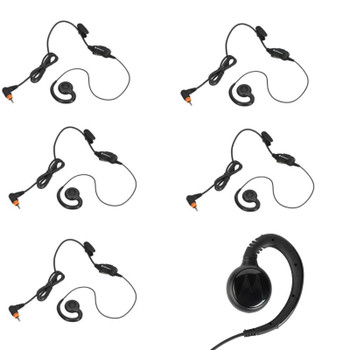 Six Pack of Motorola PMLN 7189, Swivel Hook Non-Invasive Earpiece with in-line Push-to-talk