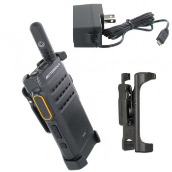The Mototrbo SL300 portable two-way radio provides reliable push-to-talk communication for the mobile, everyday user in an ultra-slim and rugged profile.