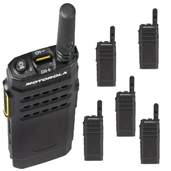 6 Pack Motorola SL300 DMR Portable Digital / Analog Professional Radio Perfect for your commercial use.
