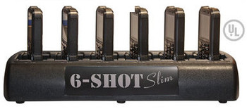 OEM 6 SHOT multi charging station for two way radios is easy to use and works with 6 two way radios. This plug and charge 6 SHOT works with most Blackbox two way radios.