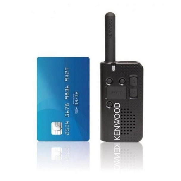 Kenwood PKT23 UHF two-way radio provides 1.5 watt transmit power, 4 channels, and up to 15 hours of operation all in a 3.9 oz package. This small but powerful radio is perfect for employees to stay in touch.