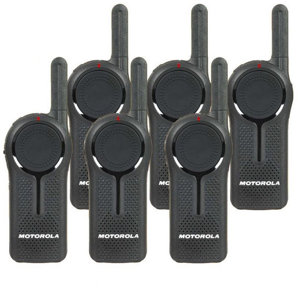 This 6-Pack of Motorola DLR-1060  Six Channel radios meet test methods from Military Standards 810 C, D, E, F and G, including shock, vibration, extreme temperatures and dust.