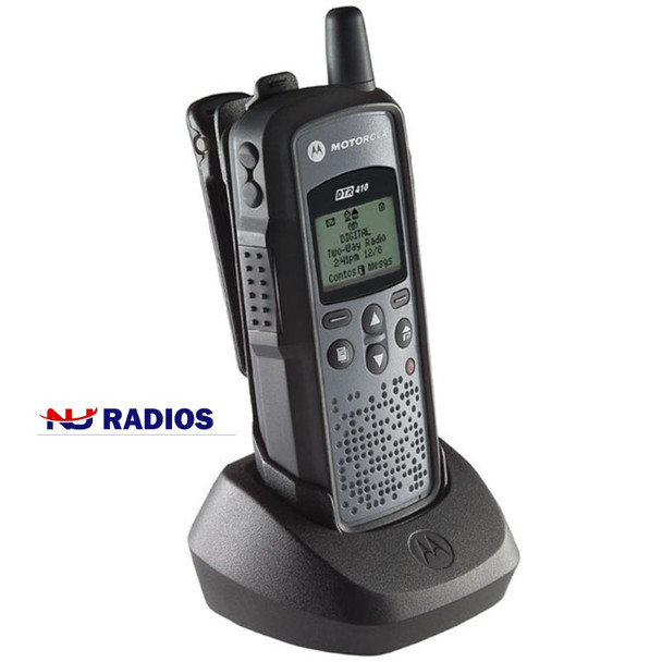 The Motorola DTR410 works on Frequency Hopping Spread Spectrum (FHSS) technology.  The radios are not just more reliable, they are free from interference and offer greater privacy than typical analog models.