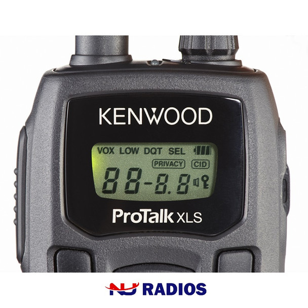 The TK-3230 DX weighs a mere 5.5 oz (155 g) with the rechargeable Li-ion battery and control buttons, which are simple to use with PTT, MON, MENU, CAL, UP and DOWN operations.