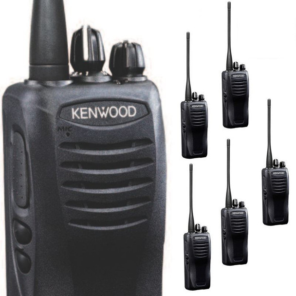 """Get your Six Pack today! Kenwood TK-3400U16P ProTalk Radio has been improved to offer a larger UHF """"bank"""" of frequencies, and improved louder sound with more output."""
