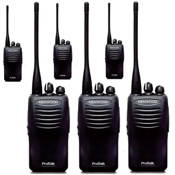 This Six Pack is a Great Deal! Get your Kenwood TK-3402-U16P, it is a powerful 16 channel, 5 watt business two way radio with a lithium battery providing up to 12 hours of battery life in the high power setting.