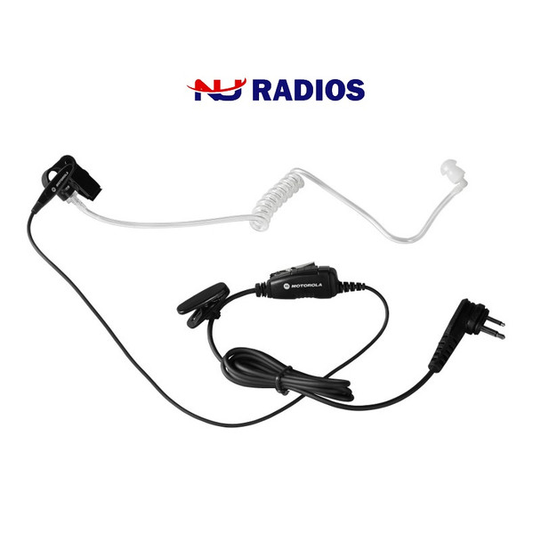 Motorola HKLN4601 Single Wire Surveillance Earpiece with In-Line Mic and PTT is a Single-Wire Surveillance Kit with In-Line Mic and PTT that provides discreet and efficient communication for business-class two-way radios, ideal for use in hospitality and security companies.