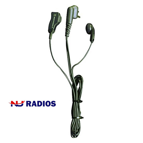 Don't disturb bystanders with radio conversations. Motorola's 53866 earbud conveniently fits in either ear with a microphone that clips to collar or sleeve.