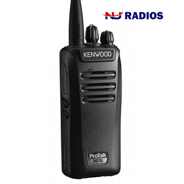 This Kenwood with 5 Watts is powerful. The  NX-340U16P ProTalk two-way business portable radio with up to 32 channels (16 in each zone), is ideal for communications in construction, manufacturing, retail, movie theaters and grocery stores.
