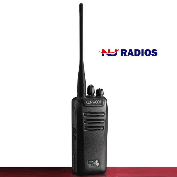 Kenwood's NX240V16P2 16 channel 2 Watt portable radios operate in both FM analog and NXDN® digital modes, offering a cost-effective way to migrate smoothly from legacy analog systems while discovering the benefits of advanced digital technology – including larger effective coverage area, low noise for superior clarity, and inherent secured voice.