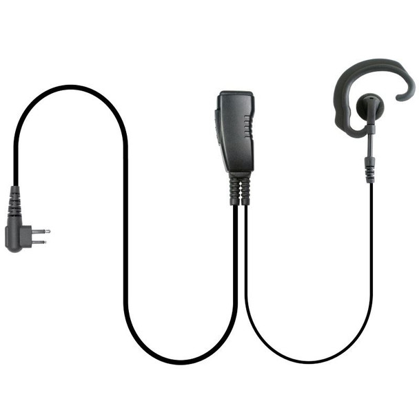 The Aftermarket Kenwood LMC-1EH Series Lapel Microphone with Ear-Hook can be used on either ear and is easy to clean and use. A great low cost headset solution.