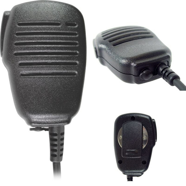 Aftermarket SPM-101 Kenwood Speaker with Mic is lightweight, small, remote speaker microphone with a high-quality electret condenser-style microphone element that produces excellent transmit audio as well as a powerful speaker.