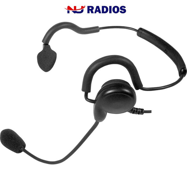 PATRIOT SPM-1400 Series - Light Weight Headset: Behind-the-head headset with noise-cancelling boom microphone and earphone.  Fit's 2-Pin Motorola radios.