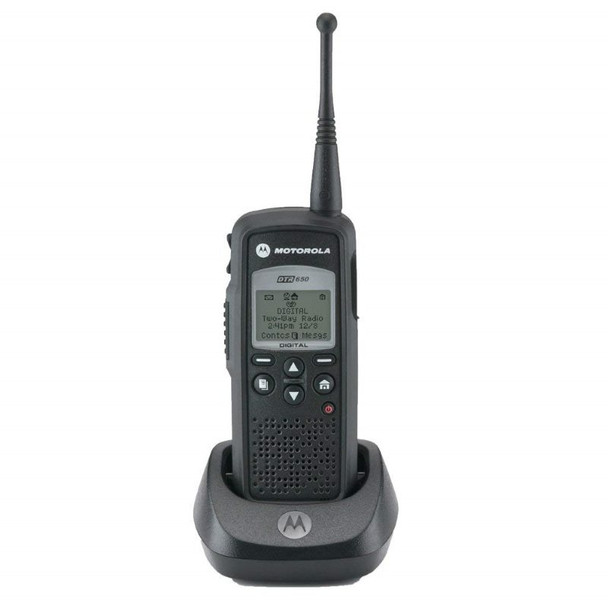 The Motorola DTR650 works on Frequency Hopping Spread Spectrum (FHSS) technology.  The radios are not just more reliable, they are free from interference and offer greater privacy than typical analog models.