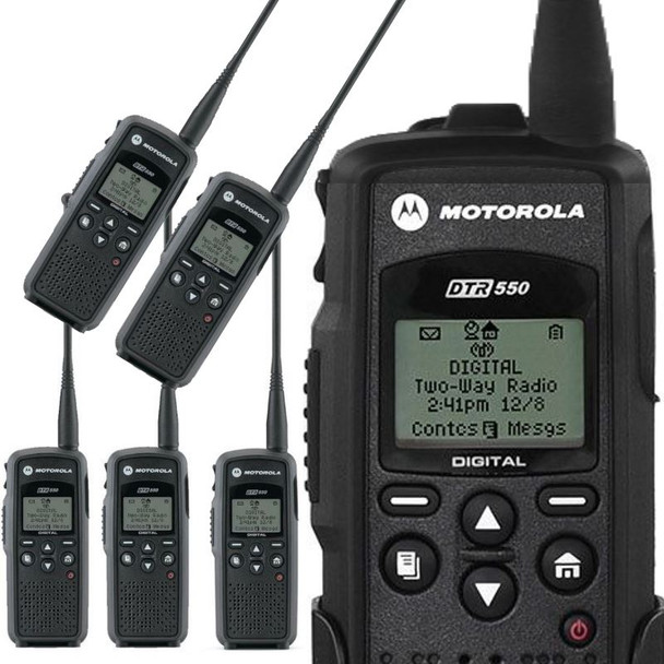 That's why our DTR550 Digital On-Site Two-Way Radio is the ideal business solution. With enhanced in- building coverage, loud, clear audio and no monthly fee's. Plus, it Vibrates! Get your Six Pack today.