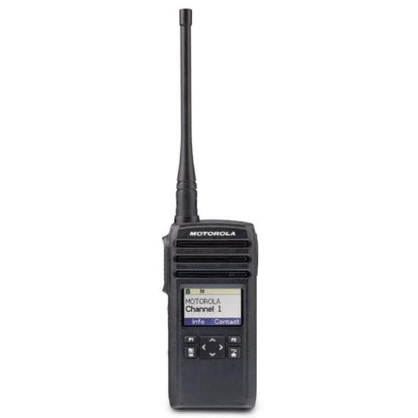 That's why our DTR600 Digital On-Site Two-Way Radio is the ideal business solution. With enhanced in- building coverage, loud, clear audio and no monthly fee's. Plus, it Vibrates!