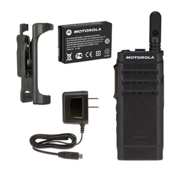 Motorola SL300 2CH Two Way Radio, less than an inch thick, the SL300 redefines portability. It can be carried easily in a pocket or purse without catching or bulging.