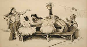 CARNIVAL WORKERS BY NORMAN ROCKWELL