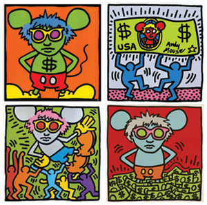 ANDY MOUSE 1986 BY ANDY WARHOL | KEITH HARING
