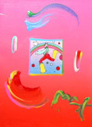 COSMIC JUMPER 1 (OVERPAINT) BY PETER MAX