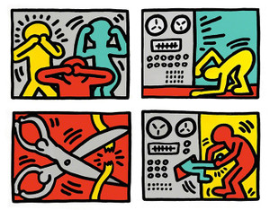 POP SHOP III QUAD BY KEITH HARING
