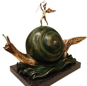 SNAIL AND THE ANGEL BY SALVADOR DALI