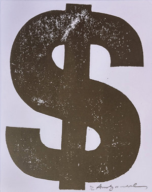 $ DOLLAR SIGN (BROWN) FS II.277 BY ANDY WARHOL