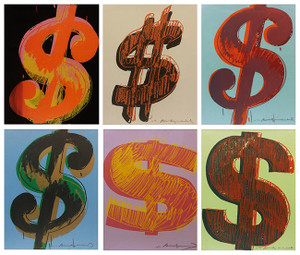 $ DOLLAR SUITE FS.II 274-279 (SET OF 6) BY ANDY WARHOL