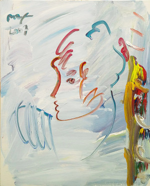 CLOUDY PROFILE BY PETER MAX