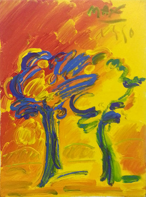 SUNSET I BY PETER MAX