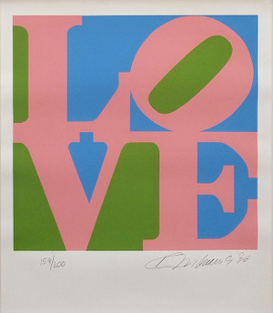 LOVE (G/P/B) BY ROBERT INDIANA