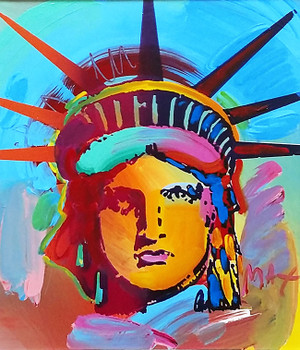 LIBERTY HEAD X BY PETER MAX