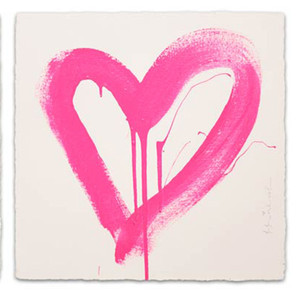 LOVE HEART (PINK) BY MR. BRAINWASH
