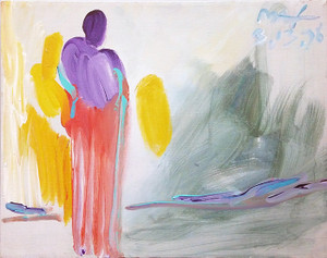 ANGEL (YELLOW WINGS) BY PETER MAX