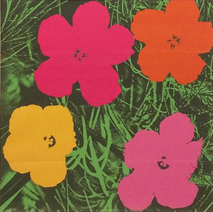 FLOWERS INVITATION (SIGNED) BY ANDY WARHOL