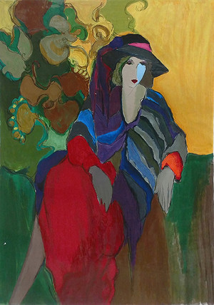 SEATED WOMAN BY ITZCHAK TARKAY