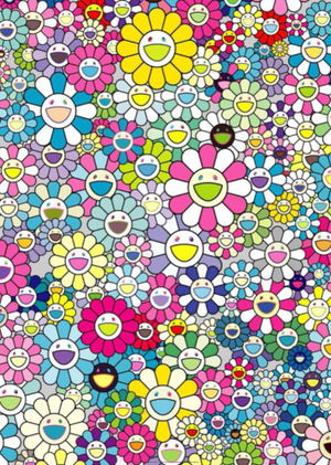 FLOWERS BLOSSOMING, I LOOK BACK AND THERE BY TAKASHI MURAKAMI