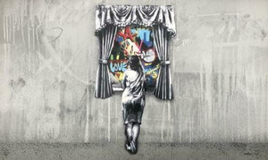 GIRL AT THE WINDOW (REVERSE) (HAND FINISHED)BY MARTIN WHATSON