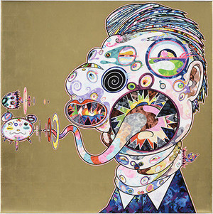 HOMAGE TO FRANCIS BACON NO. 2 (GOLD)  BY TAKASHI MURAKAMI