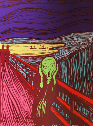 THE SCREAM (GREEN) BY ANDY WARHOL FOR SUNDAY B. MORNING