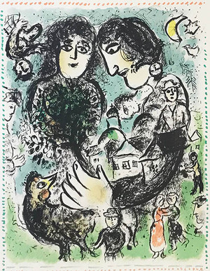 LE RENDEZ-VOUS BY MARC CHAGALL