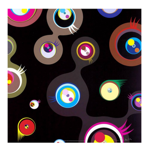 JELLYFISH EYES BLACK 2  BY TAKASHI MURAKAMI