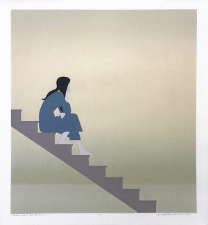 STAIRWAY TO THE SEA BY WILL BARNET
