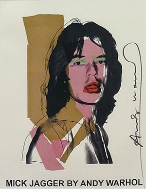 MICK JAGGER EXHIBITION (SIGNED POSTER) BY ANDY WARHOL