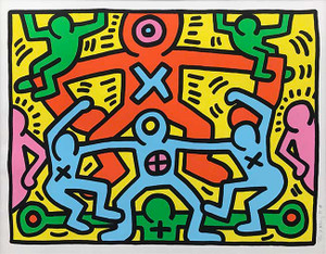 UNTITLED III BY KEITH HARING